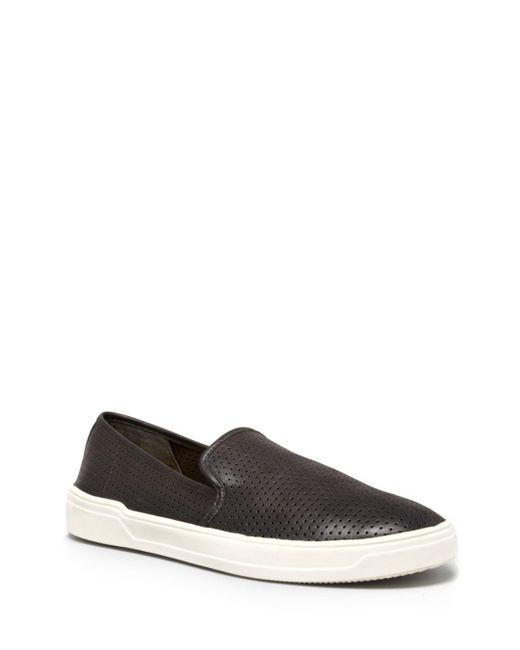 Via Spiga - Black Galeas Perforated Slip-on Sneakers - Lyst