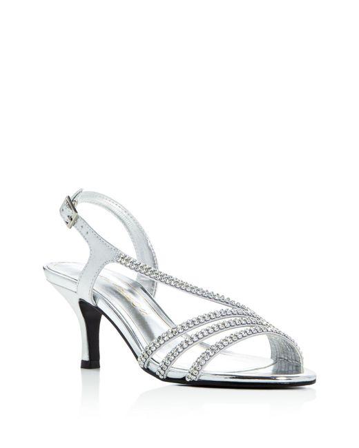 Caparros | Bethany Metallic Embellished Mid Heel Sandals | Lyst