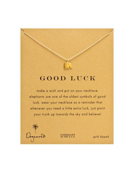 Dogeared | Metallic Gold Good Luck Elephant Necklace, 18"