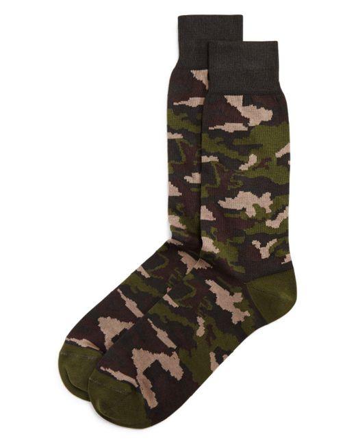 Bloomingdale's - Green Camo Socks for Men - Lyst