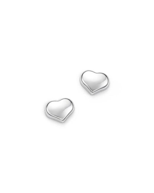 Roberto Coin | 18k White Gold Small Heart Earrings | Lyst