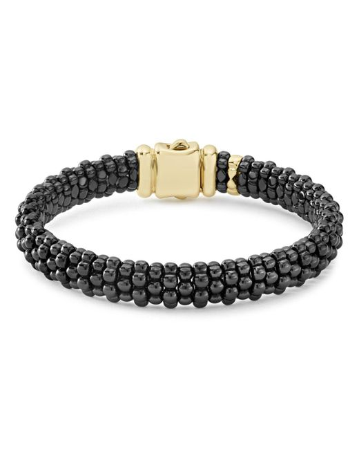 Lagos - Metallic Gold & Black Caviar Collection 18k Gold & Ceramic Bracelet - Lyst