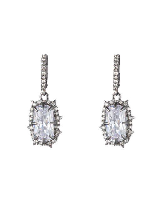 Alexis Bittar - Metallic Framed Crystal Cushion Drop Earrings - Lyst