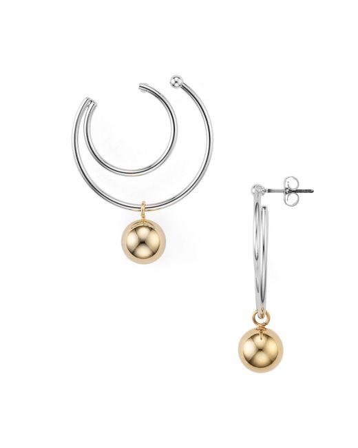 Argento Vivo | Metallic Two-tone Double Hoop Earrings | Lyst