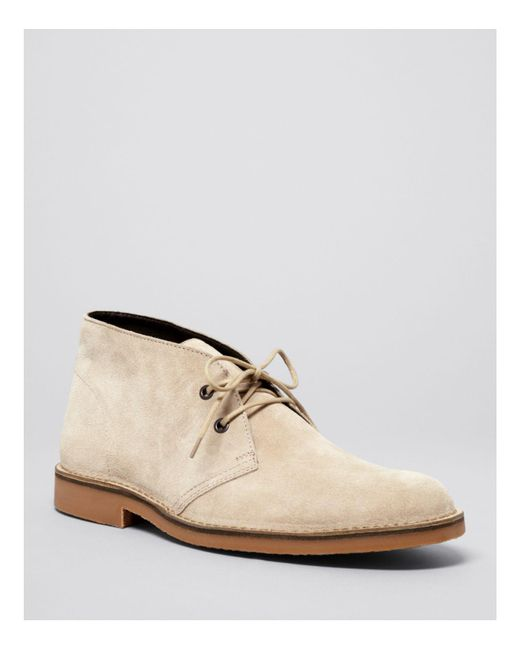 Bloomingdale's | Natural Suede Chukka Boots for Men | Lyst