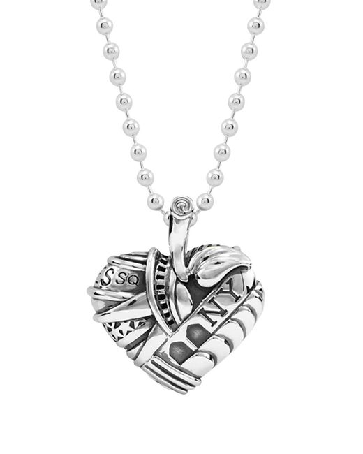 Lagos | Metallic Sterling Silver Heart Of New York Necklace, 34"