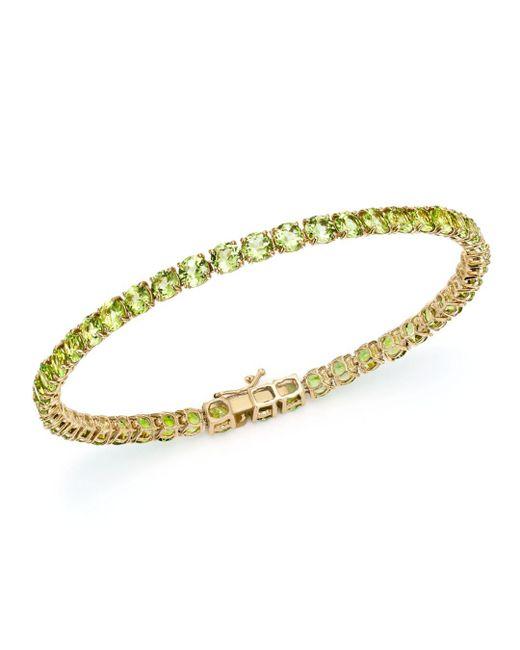 Bloomingdale's - Metallic Peridot Tennis Bracelet In 14k Yellow Gold - Lyst
