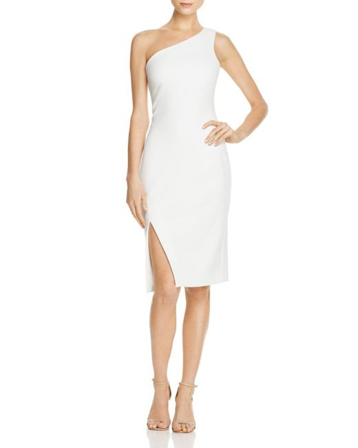 Likely - White Helena One-shoulder Dress - Lyst