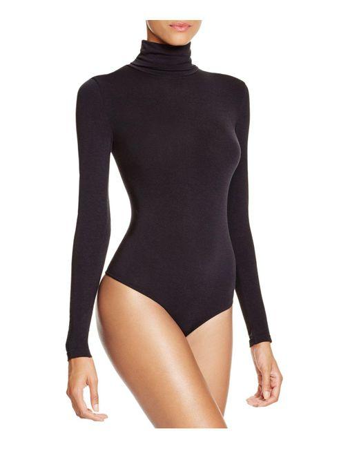 Wolford - Black Colorado Stringbody Turtleneck Bodysuit - Lyst