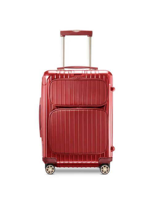 Rimowa salsa deluxe cabin multiwheel hybrid in red lyst for Salsa deluxe cabin multiwheel