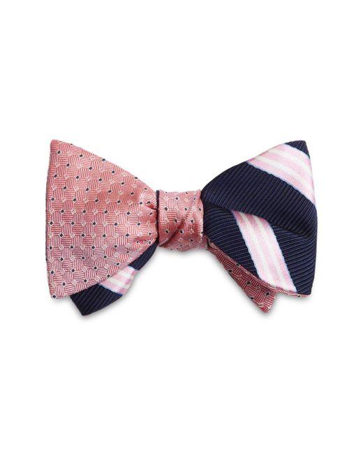 Brooks Brothers - Red Stripes Reversible Bow Tie for Men - Lyst