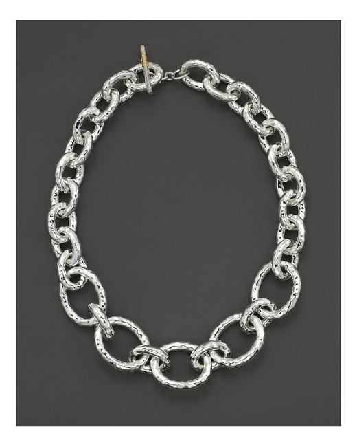 "Ippolita - Metallic Sterling Silver ""bastille"" Chain Necklace - Lyst"