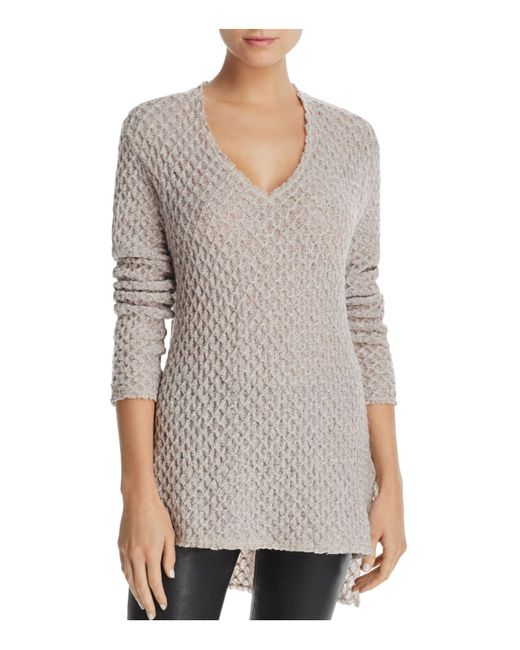 Three Dots | Multicolor Honeycomb High Low Sweater | Lyst