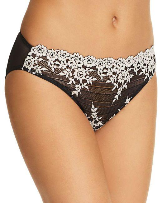 Wacoal - Black Embrace Lace Bikini - Lyst