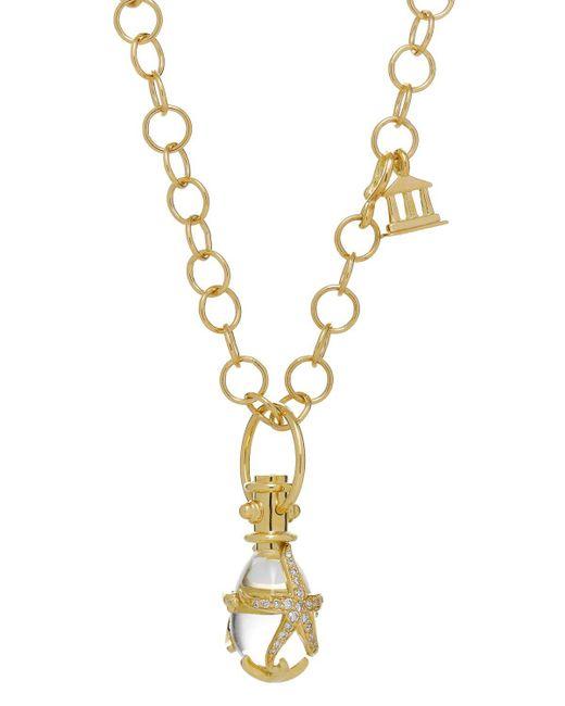 Temple St. Clair | Metallic 18k Yellow Gold Diamond Pave Starfish Amulet | Lyst