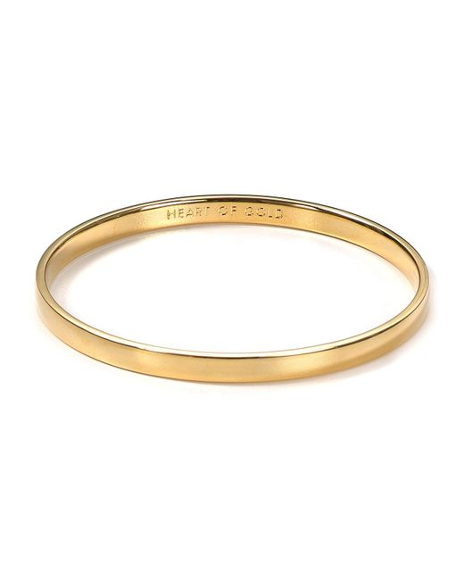 Kate Spade | Metallic Idiom Heart Of Gold Bangle | Lyst