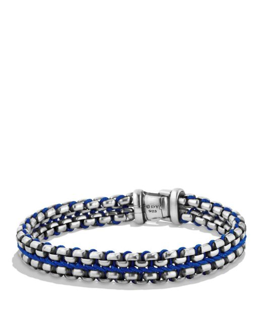 David Yurman - Woven Box Chain Bracelet In Blue for Men - Lyst