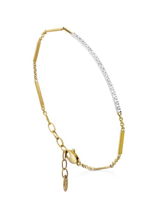 Marco Bicego - Metallic 18k Yellow Gold Goa Diamond Bar Bracelet - Lyst