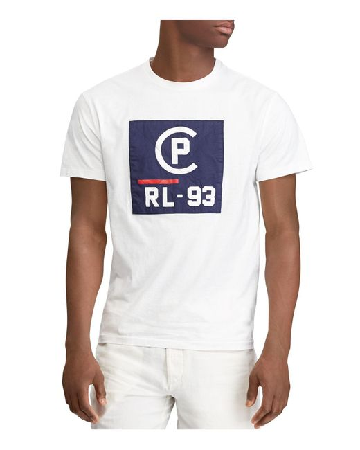 Polo Ralph Lauren - White Polo Cp Rl-93 Patch Tee for Men - Lyst