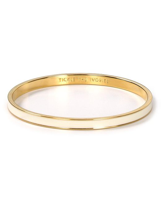 kate spade new york | Natural Tickle The Ivories Idiom Bangle | Lyst
