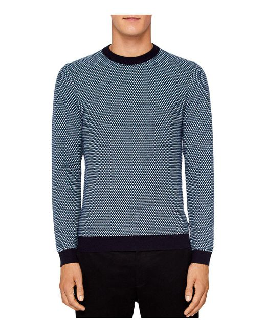 Ted Baker | Blue Coftini Triple Stitch Sweater for Men | Lyst