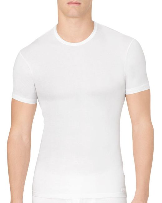Calvin Klein - White Body Modal Crew Neck Tee for Men - Lyst