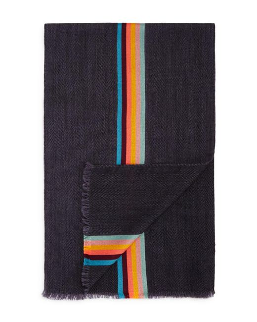 Paul Smith - Gray Art Striped Scarf for Men - Lyst