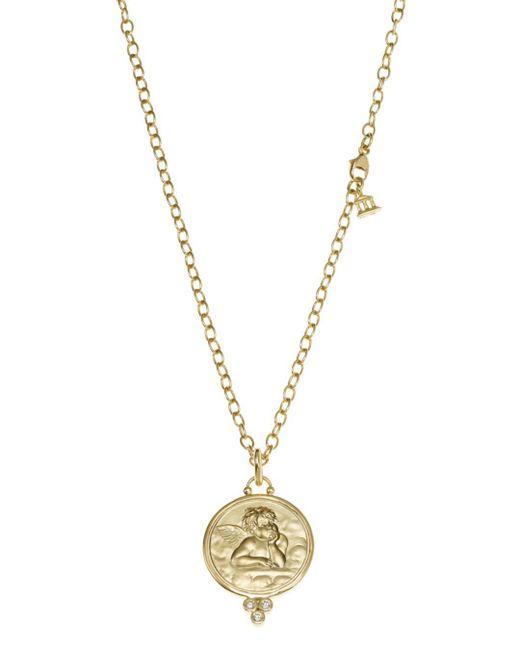 Temple St. Clair - Metallic 18k Yellow Gold Angel Pendant With Diamonds - Lyst