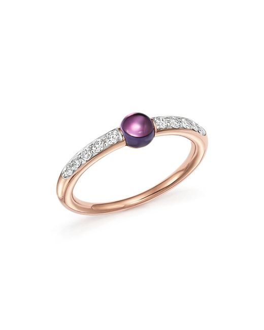Pomellato - Metallic M'ama Non M'ama Ring With Peridot And Brown Diamonds In 18k Rose Gold - Lyst