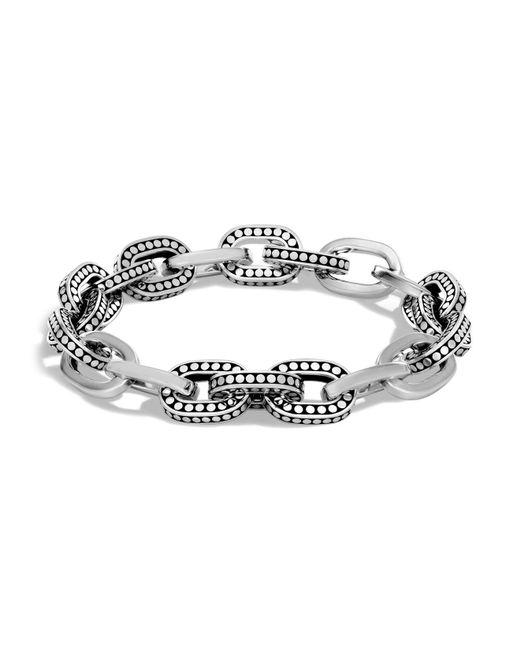 John Hardy - Metallic Sterling Silver Dot Small Link Bracelet - Lyst