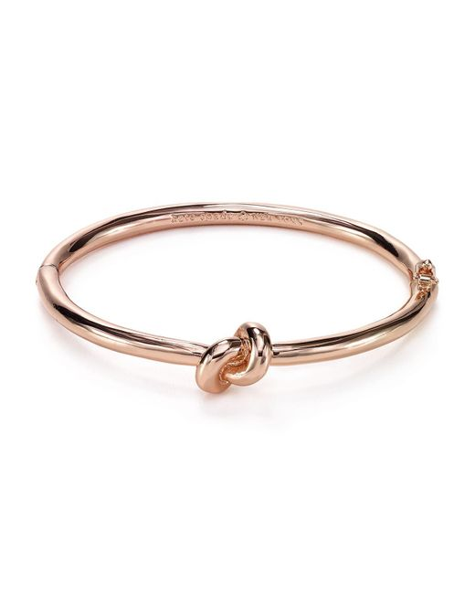 Kate Spade | Metallic Sailor's Knot Hinge Bangle | Lyst