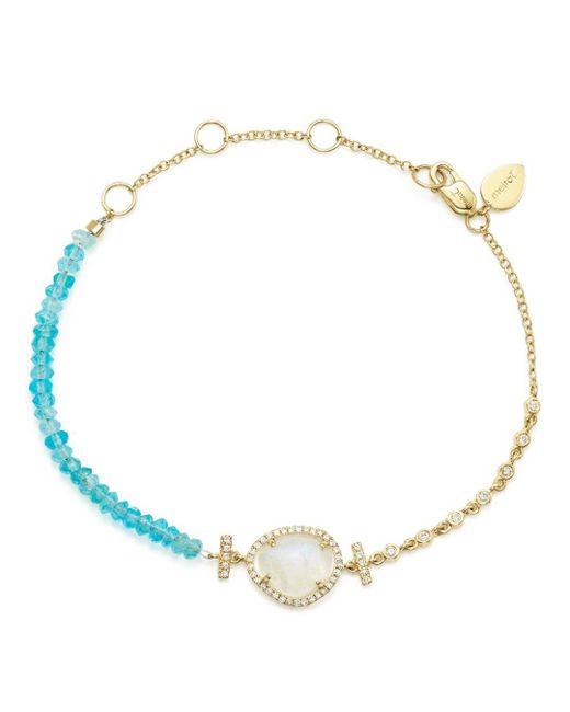 Meira T - Blue 14k Yellow Gold Rainbow Moonstone - Lyst