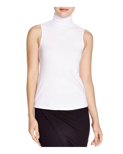 Theory | White Wendel Ribbed Turtleneck Top | Lyst
