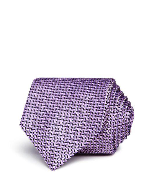BOSS - Purple Neat Wavy-geo Silk Classic Tie for Men - Lyst