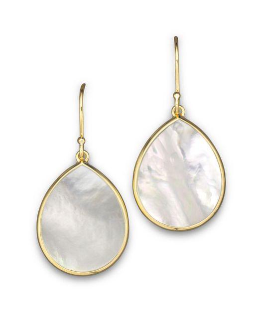 Ippolita - Metallic 18k Gold Polished Rock Candy Teardrop Earrings In Mother-of-pearl - Lyst