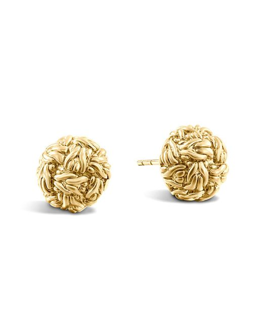 John Hardy | Metallic Classic Chain 18k Yellow Gold Stud Earrings | Lyst