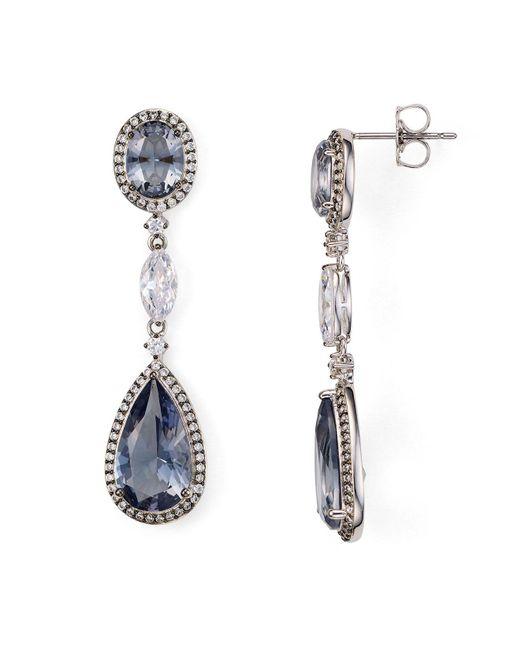 Nadri | Multicolor Framed Multi-line Drop Earrings | Lyst