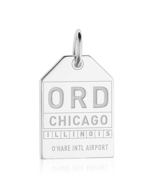 Jet Set Candy - Metallic Ord Chicago Luggage Tag Charm - Lyst