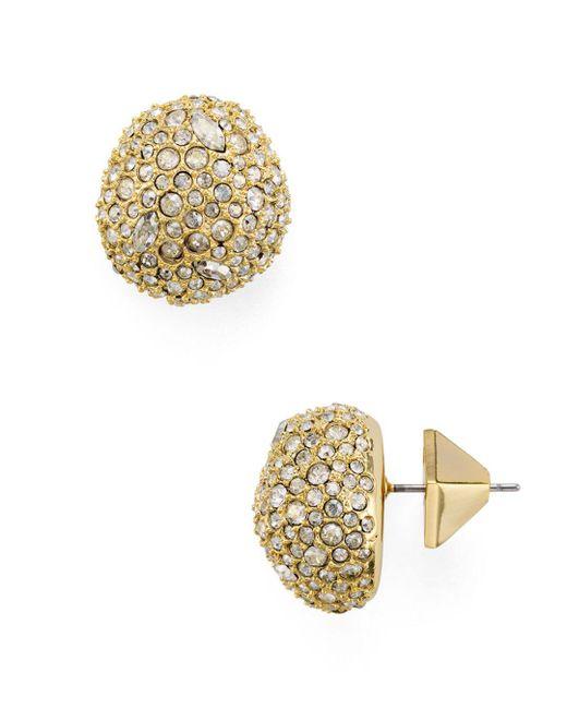 Alexis Bittar - Metallic Pavé Button Earrings - Lyst