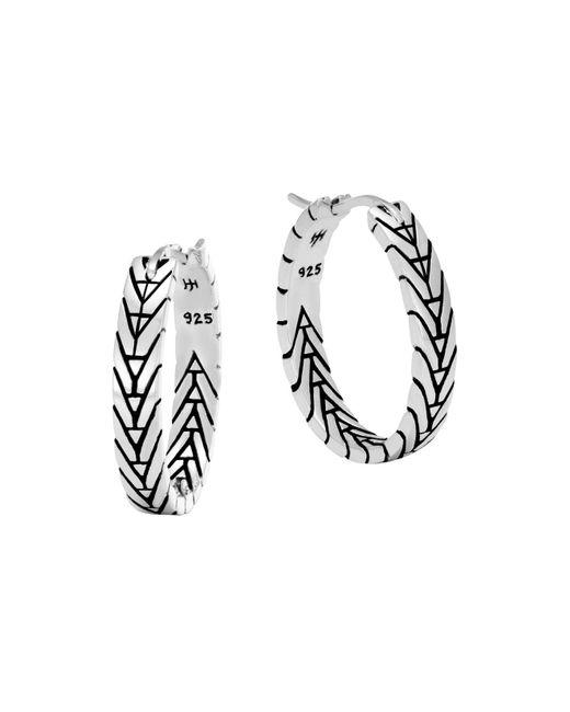 John Hardy | Metallic Sterling Silver Modern Chain Silver Small Hoop Earrings | Lyst