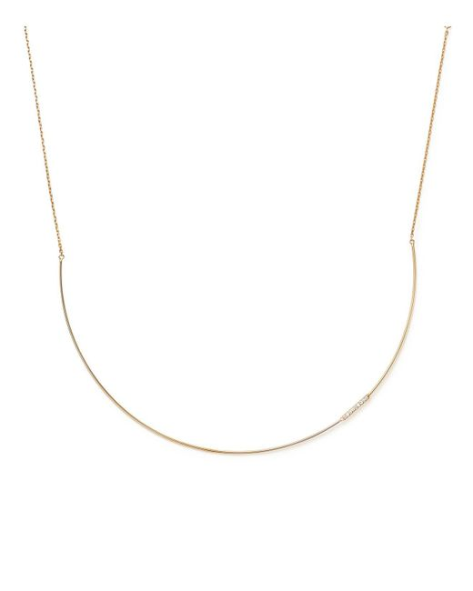 KC Designs | Metallic 14k Yellow Gold Diamond Collar Necklace With Linear Pendant | Lyst
