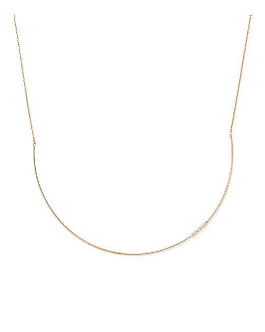 KC Designs - Metallic 14k Yellow Gold Diamond Collar Necklace With Linear Pendant - Lyst