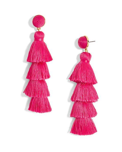 BaubleBar | Pink Gabriela Tiered Tassel Earrings | Lyst