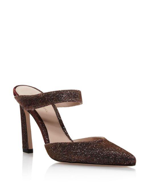 Stuart Weitzman - Multicolor Women's Metallic High-heel Mule Pumps - Lyst