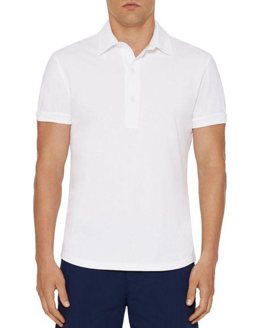 Orlebar Brown - White Sebastian Slim Fit Polo Shirt for Men - Lyst