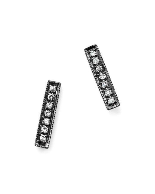 Dana Rebecca   Diamond Sylvie Rose Earrings In 14k Black Rhodium   Lyst