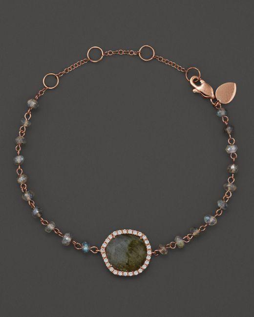 Meira T - Multicolor 14k Rose Gold Labradorite Bead Bracelet - Lyst