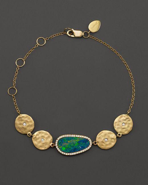 Meira T - Metallic 14k Yellow Gold Opal Disc Bracelet With Diamonds - Lyst