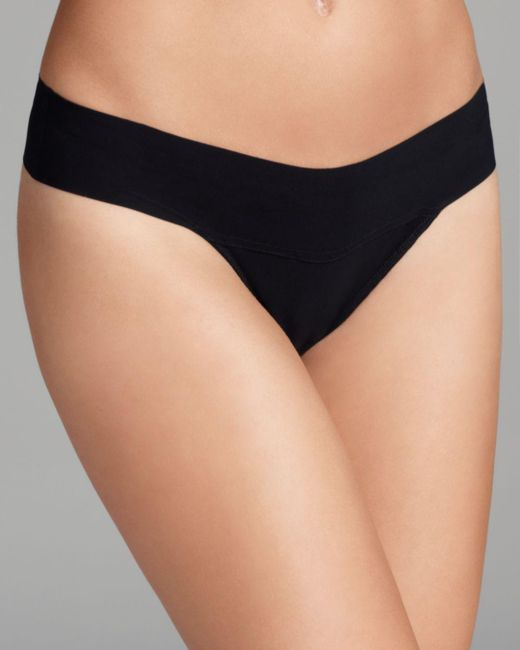 Hanky Panky - Black Bare Eve Natural Rise Thong - Lyst