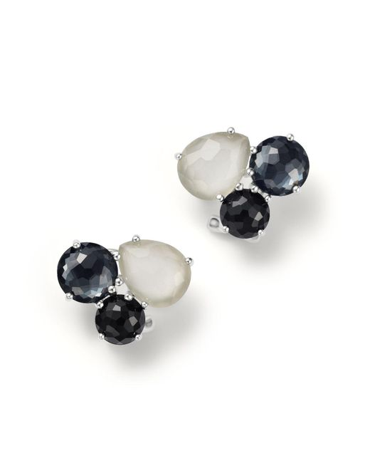 Ippolita - Multicolor Sterling Silver Rock Candy® Cluster Stud Earrings In Black Tie - Lyst